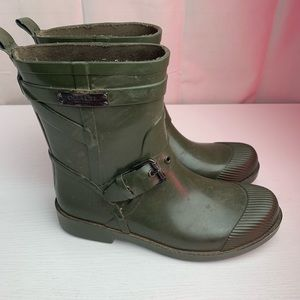 Coach NY Rain Boots Lester Green Rubber size 6